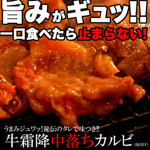 うまみジュワッ!秘伝のタレで味つき★牛霜降中落ちカルビどっさり500g(味付け)[A冷凍]